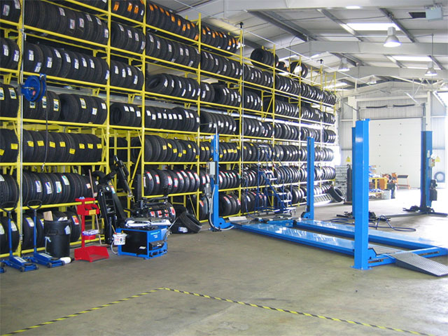 Tyre Racking Installation Ipswich