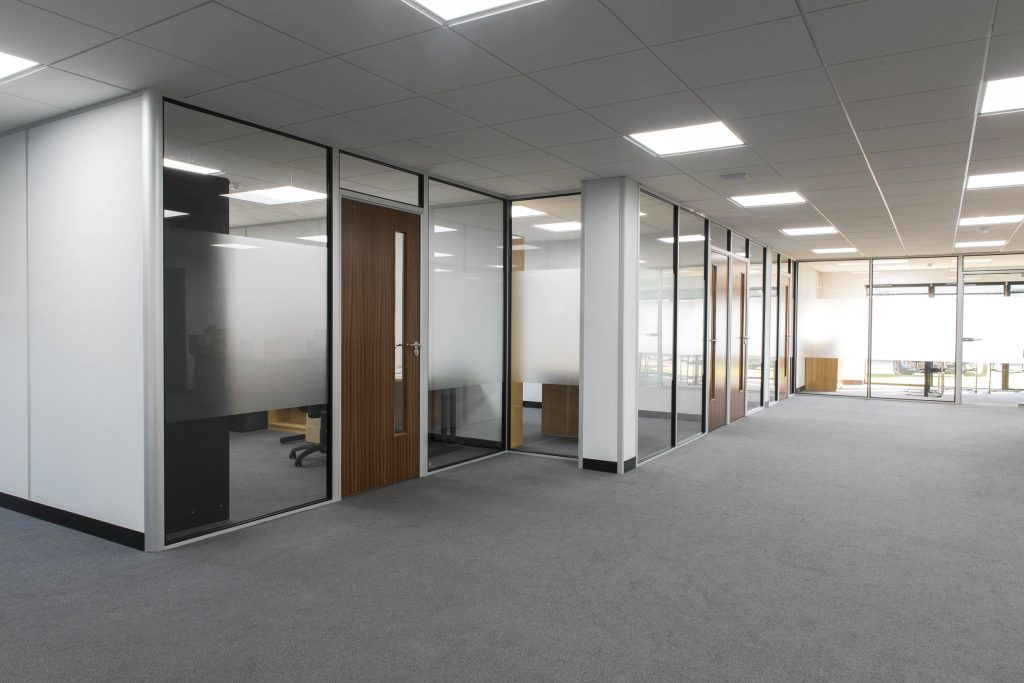Office Fit Out Meeting Room Partitions Solid & Glazed Loddon