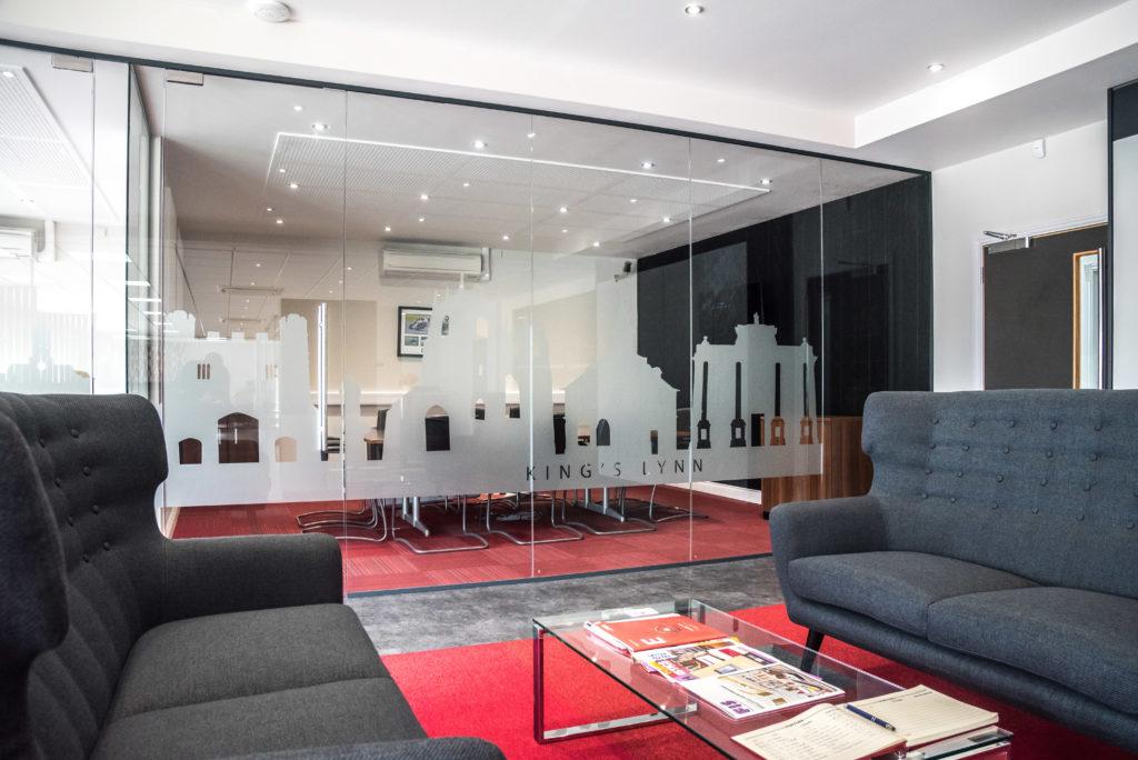 The APS Showroom Entrance & Meeting Room