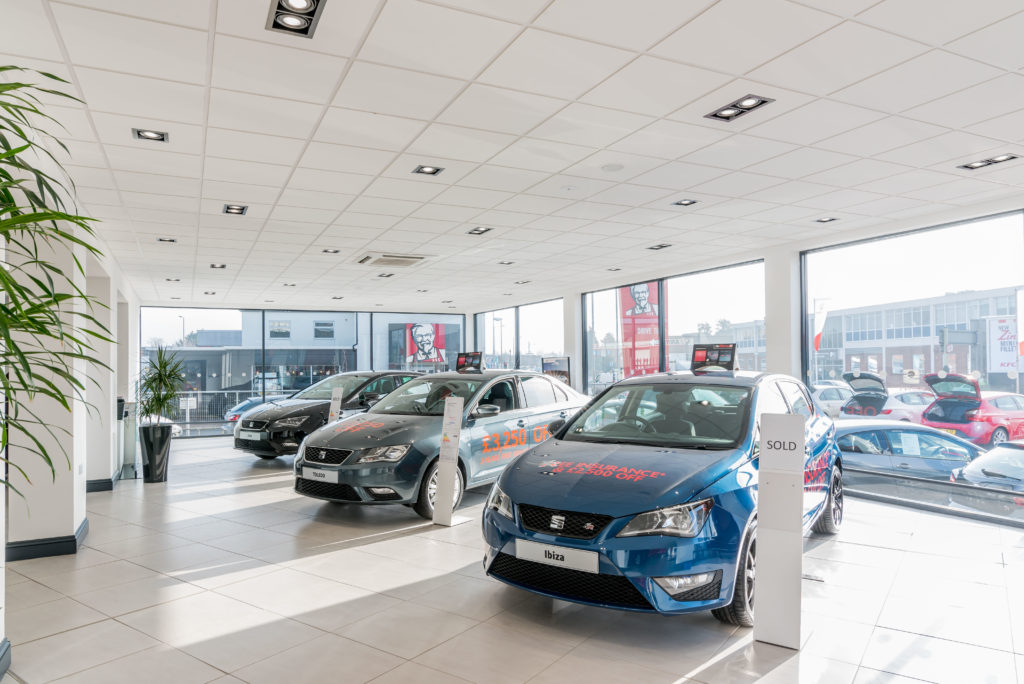 Norwich Suspended Ceiling Car Showroom Fit Out