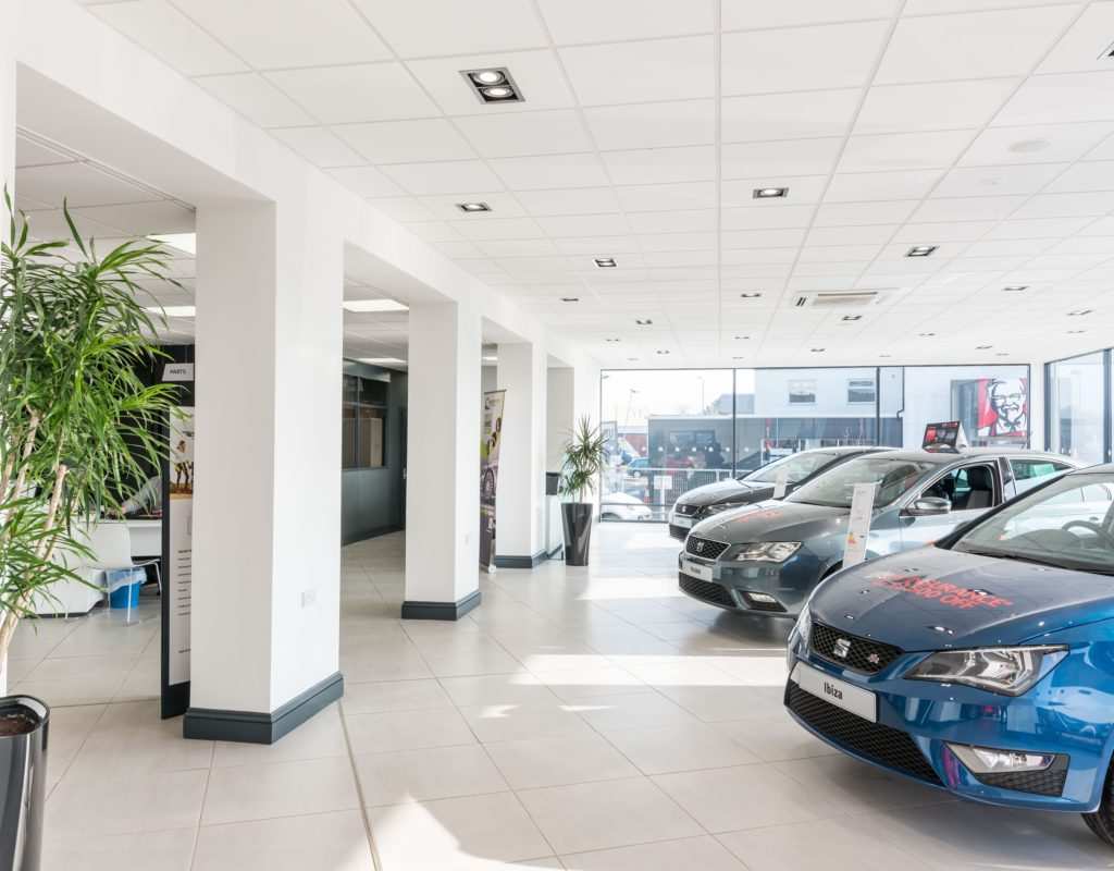 Car Showroom Suspended Ceiling in Norwich