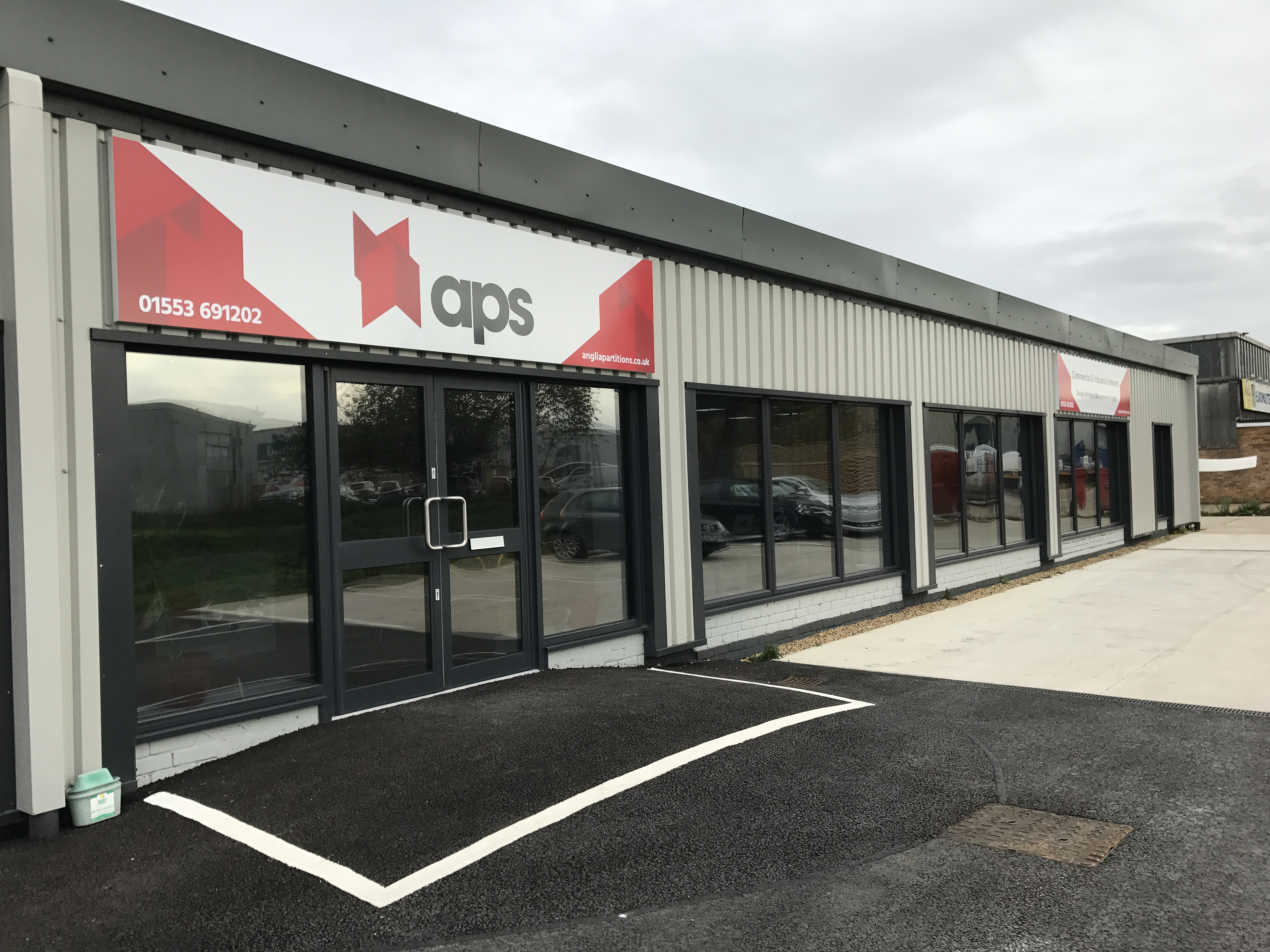 APS Showroom Entrance - Hansa Road, King's Lynn