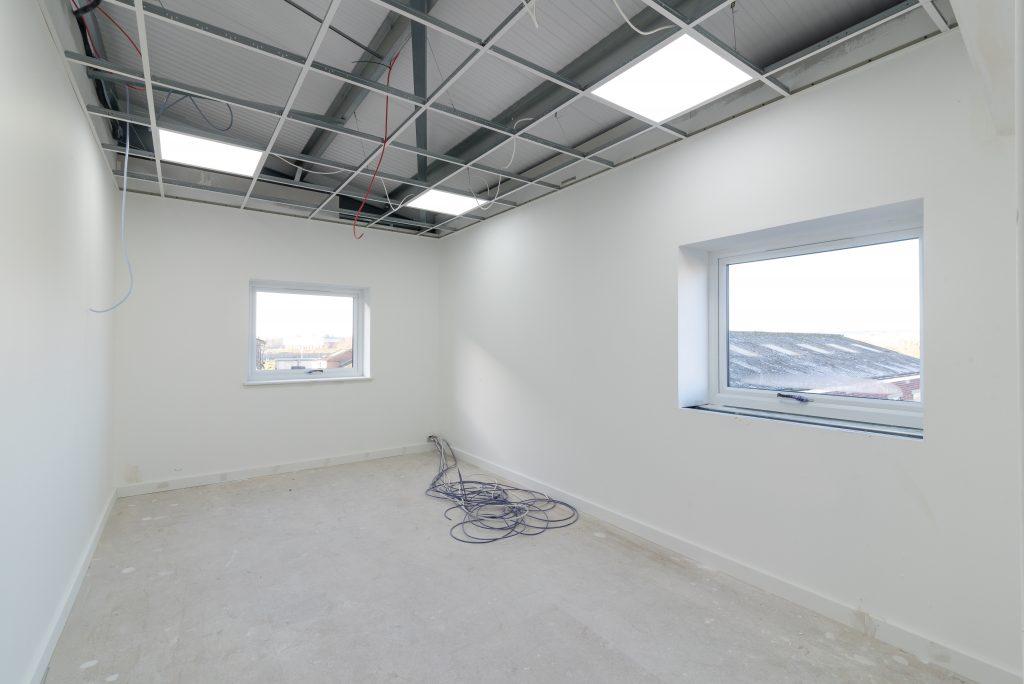 New External Windows Installation Into Steel Building & Planning Application King's Lynn