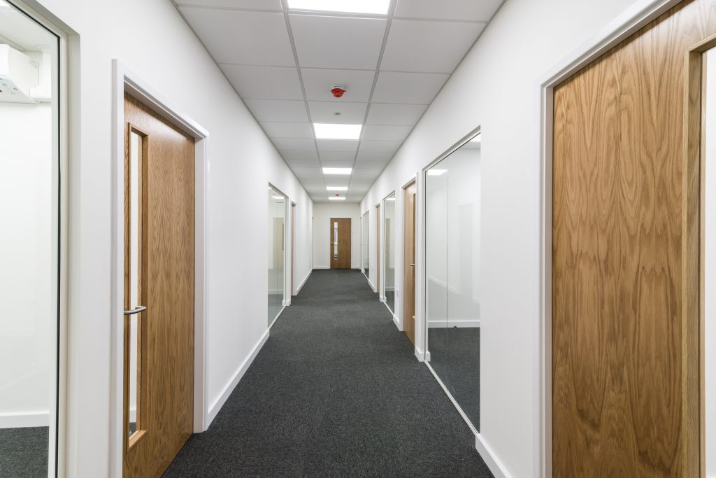 Door Installation In Office Partitioning, Ceiling, Flooring Fit Out King's Lynn