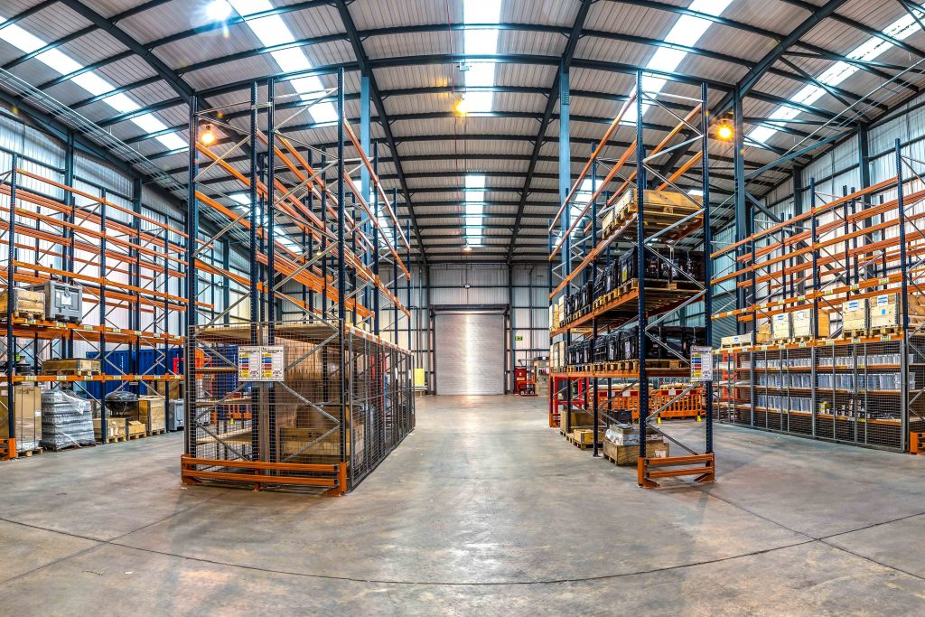 Lowestoft racking fit out and space planning including mesh steel partitioning & safety barriers.
