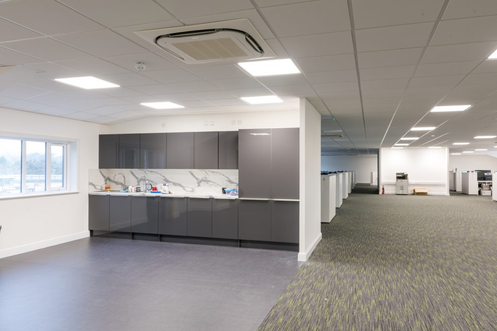 Office Fit Out Carpet Tiles & Kitchen Canteen Vinyl Safety Flooring Cambridge