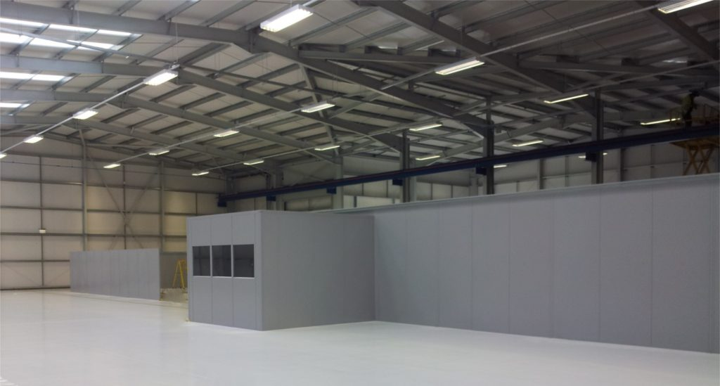 Industrial unit steel partitioning installation Watton